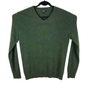 Club Room Green V-Neck Pullover Cashmere Sweater M